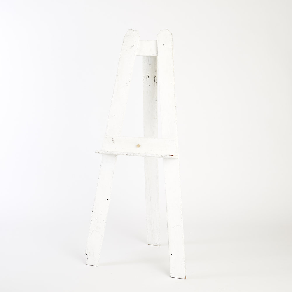RECLAIMED TIMBER FLOOR STANDING EASEL - WHITE