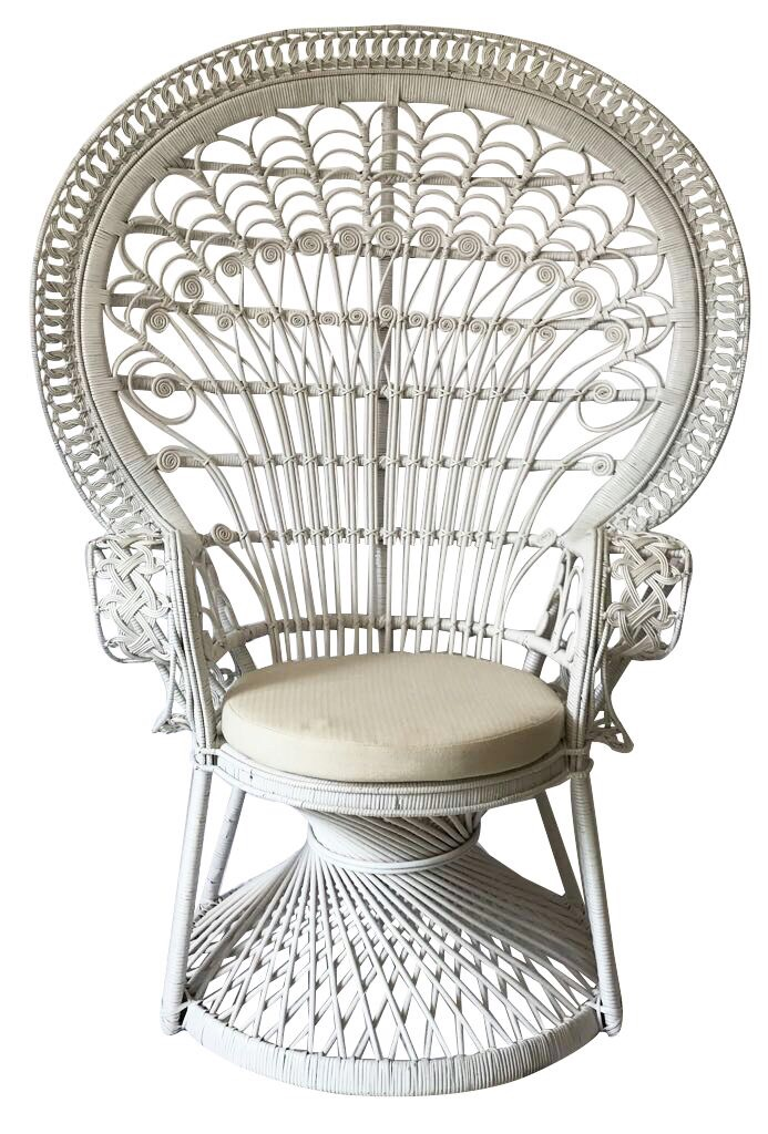 Simply Seated Peacock Chair White