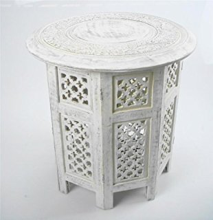 INDIAN CARVED - WHITE
