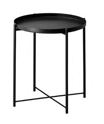 TRAY TABLE - BLACK