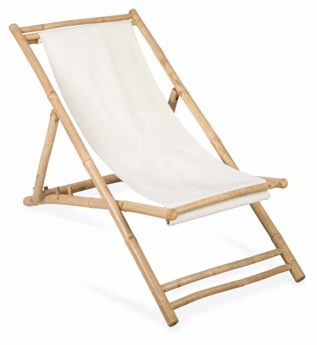 BAMBOO + CANVAS DECK CHAIR