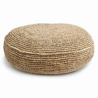 RAFFIA FLOOR CUSHION - ROUND