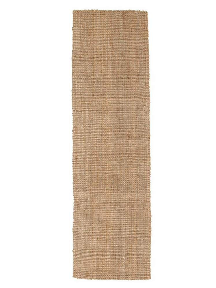 CHUNKY WEAVE JUTE RUNNER - NATURAL (0.8X4)