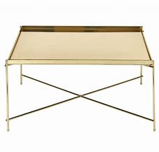 SQUARE TRAY - GOLD