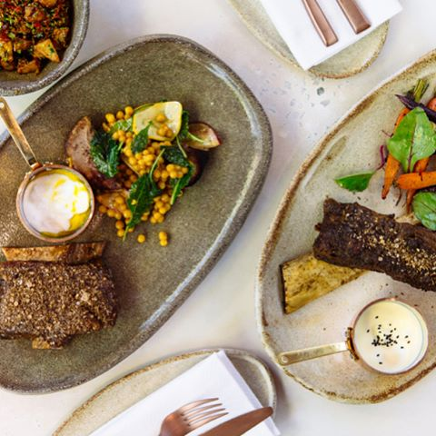 Nour is Arabic for light, but you'll leave full and in awe of the restaurant's middle eastern offerings 🥕Read our review of @nourrestaurant in the Antipodean Issue (available to order online) 🙌🏼 #boxmagazine #nour