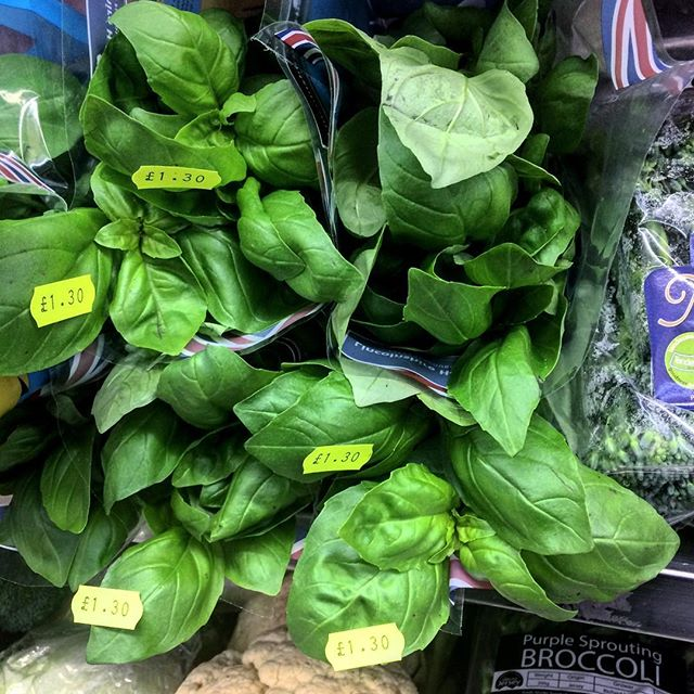 Basil by the leaf? Must be organic...
