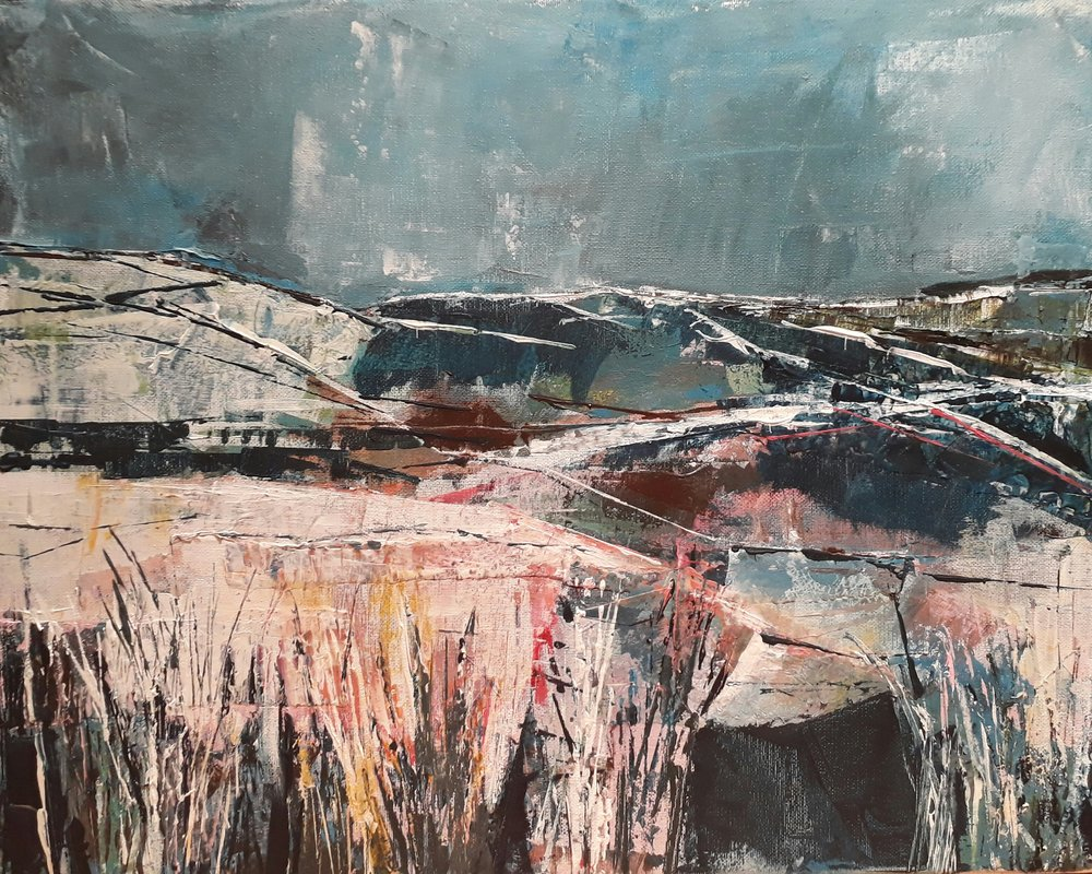 The Moor (cool hues) 54cm W x 44 cm H Acrylic on canvas £435
