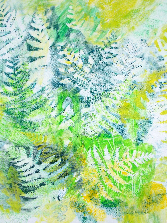 """""""Ferns"""" 60cm W x 80cm H £290"""