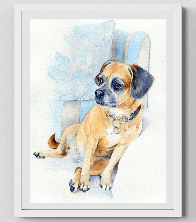 Tilly & Blue - Tilly & Blue is a specialist pet portrait service, offering pet lovers lifelike and loving memories of their cats and dogs. Special offers for Art Roundhay Park customers - FREE FRAME (Small and medium size £30 off Large)