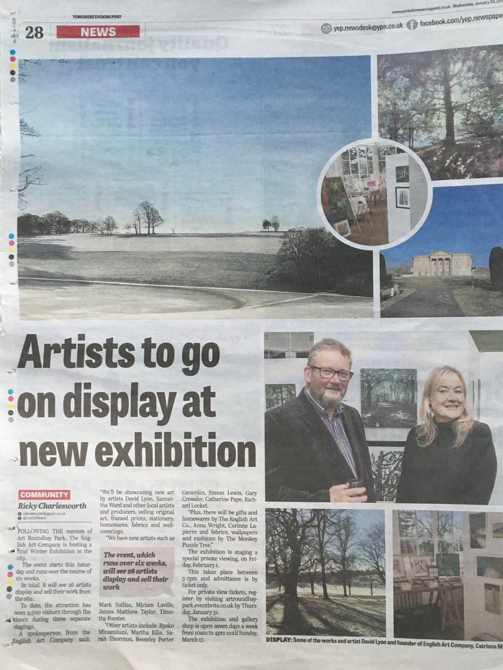 YORKSHIRE EVENING POST JANUARY 2019
