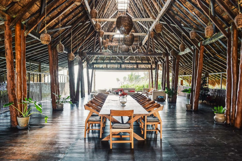 Papaya Playa Project casa palapa dinning room
