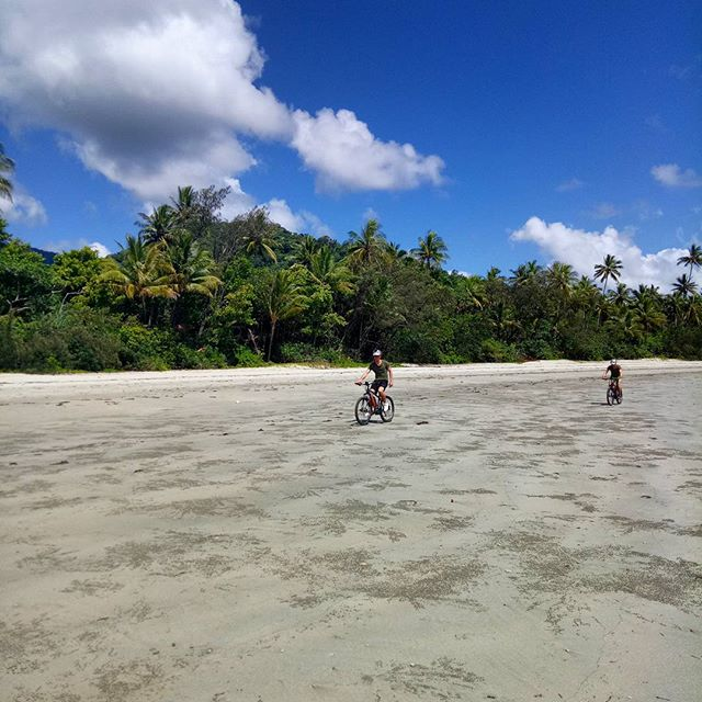 Local Beach cruising at low tide! 🚴🌴 #capetribulation #daintreerainforest #Queensland #Australia #portdouglasdaintree #exploretnq #tourismqueensland #tourismportdouglas #boschebike #emtb #ridecapetrib