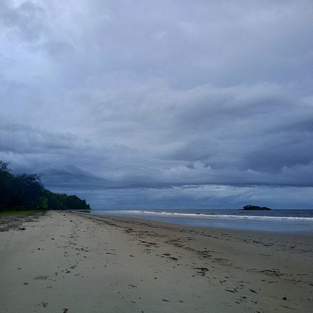 Early morning storm cell on #thorntonbeach Wet season is underway in the #daintreerainforest