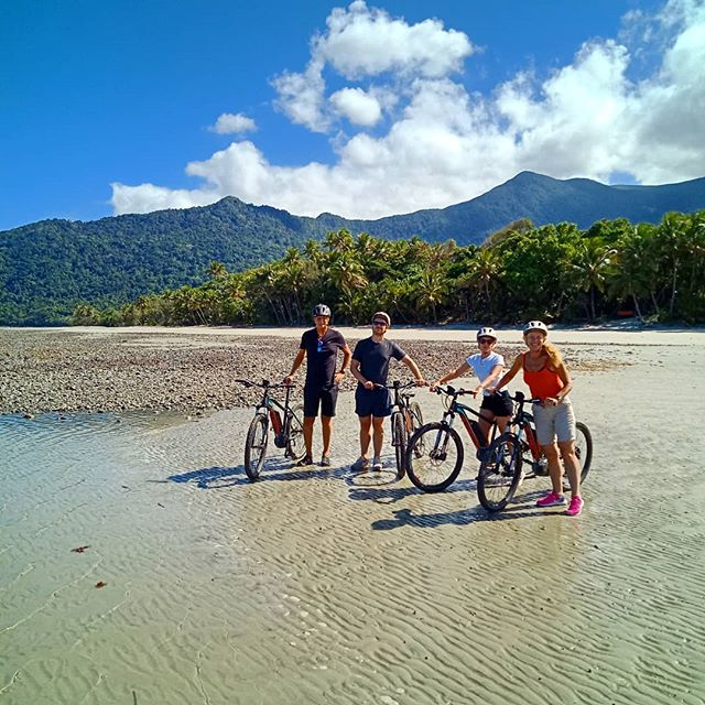 Low tide, let's ride!  #daintreerainforest #capetribulation #ridecapetrib #tropicalnorthqueensland #australia