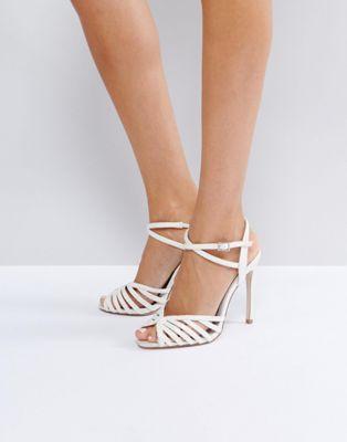 sandales à talons blanches 47,99 €