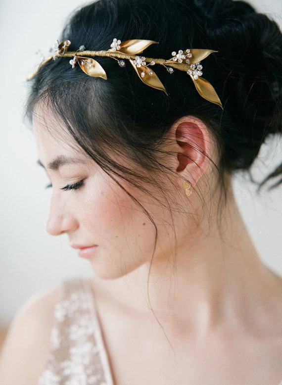 headband feuilles d'or 262€