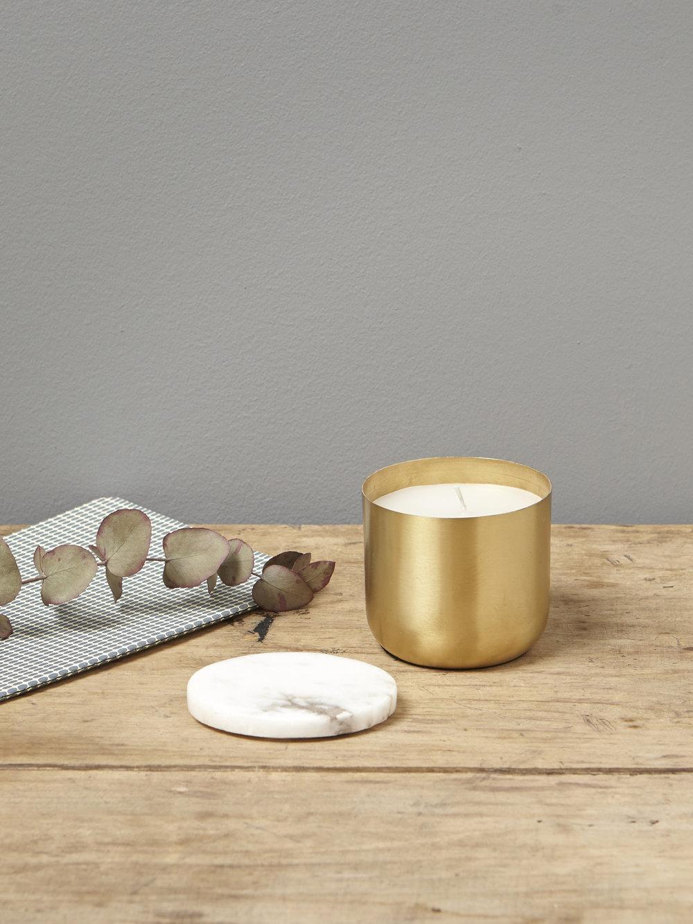 Bougie doré marbre 14,90€