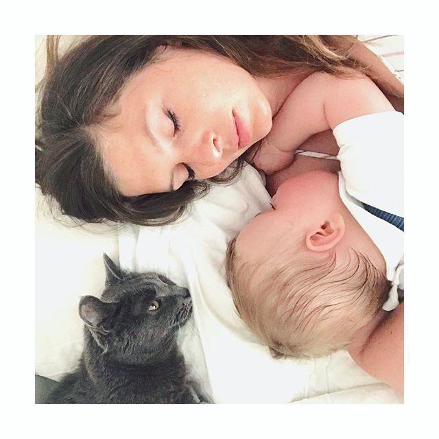 Quand un chat en surveille un autre 😻😻😻 #instantvolé #matineecalin #faitchaudquandmeme #pupogiulio #amore #mumlife #monbebedamour #jefonds