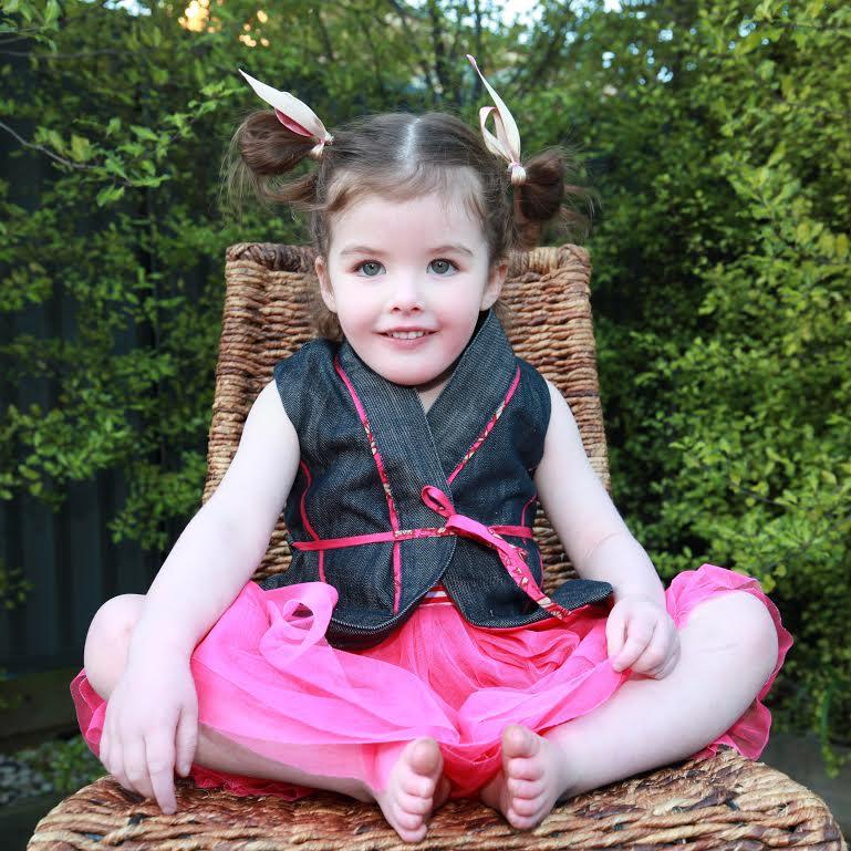 Cargie Threads - Miss Charlotte little girls denim vest
