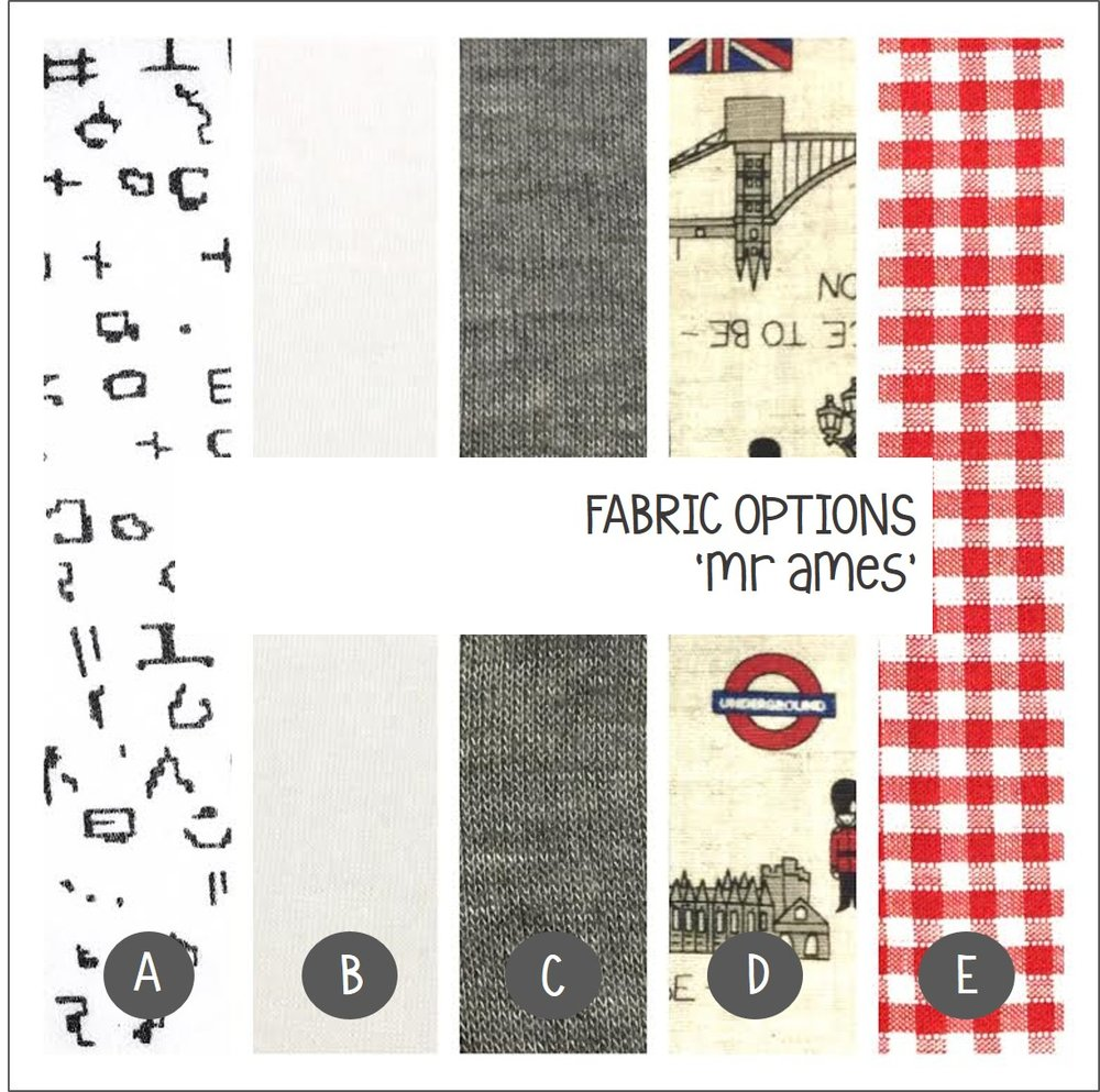 Cargie Threads 'Mr Ames' little boys jacket fabric options