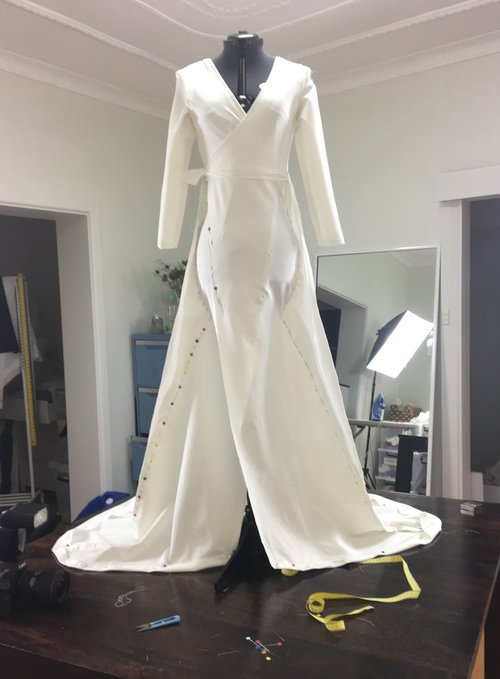 A Tuscan bridal gown for an Aussie princess — Cargie Threads