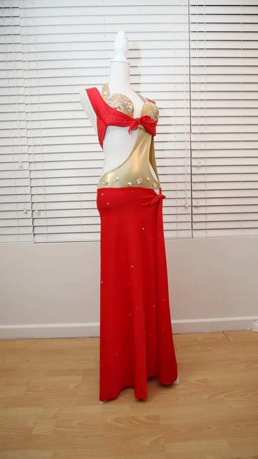 Red & Gold Belly Dancing costume