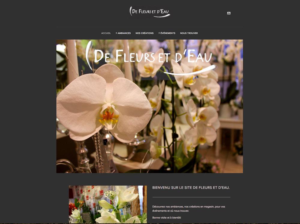 Site Internet - Photos.  De Fleur et D'Eau - Fleuriste