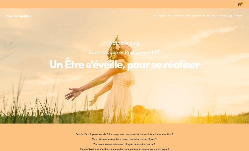Site Internet (Refonte Complète) et Boutique en ligne - Production des Relaxations guidées.  Pour se Réaliser  - Nathalie Jung