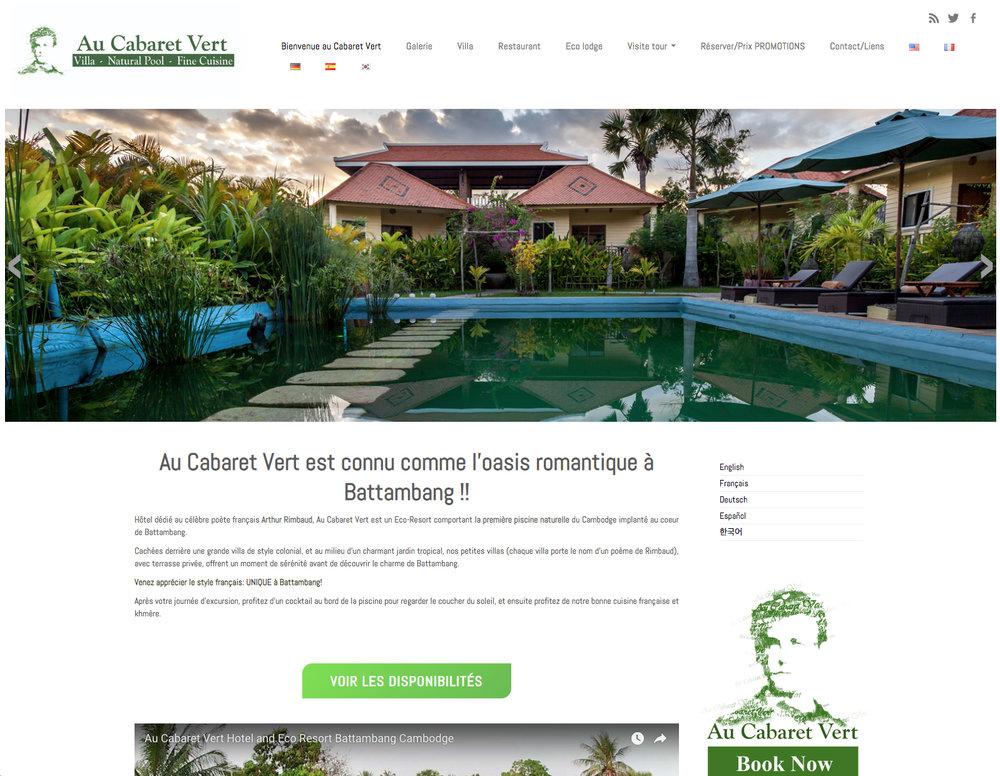 Modernisation du site internet  Au Cabaret Vert