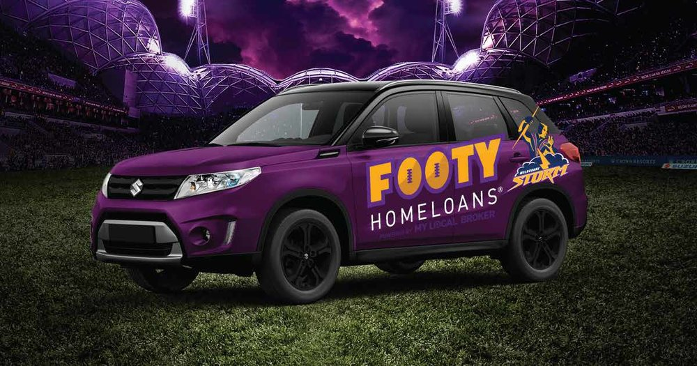 - Creating the car wrap for Footy Homeloans was a great learning project, Skills that I learnt was how to accurately Photoshop the colours of the car as well as making it have a matte finish.As well as the mock up it was great to learn how to get this job print ready and into a finished product.
