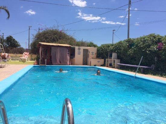Sunshine and swimming in the pool at Tara Casa, Murcia, Spain .jpg