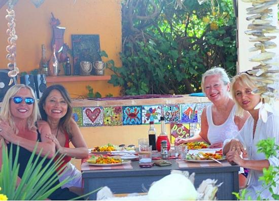 dinner by the pool at Tara Casa