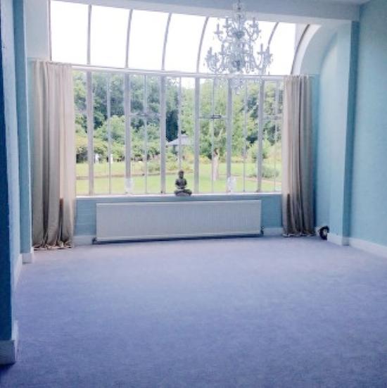 Saturday morning yoga at The Healer's Grove yoga room Gerrards Cross .jpg