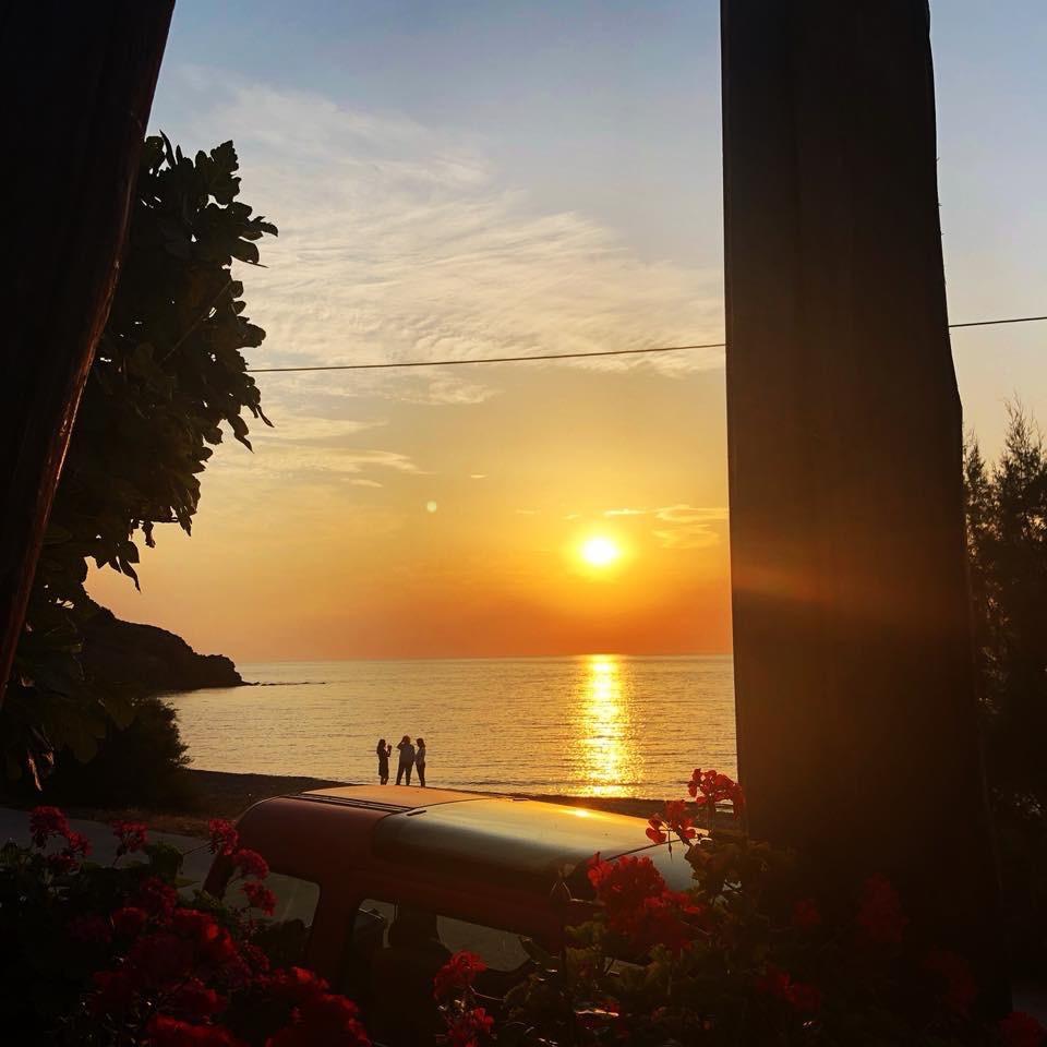 Sunset at Eftalou beach
