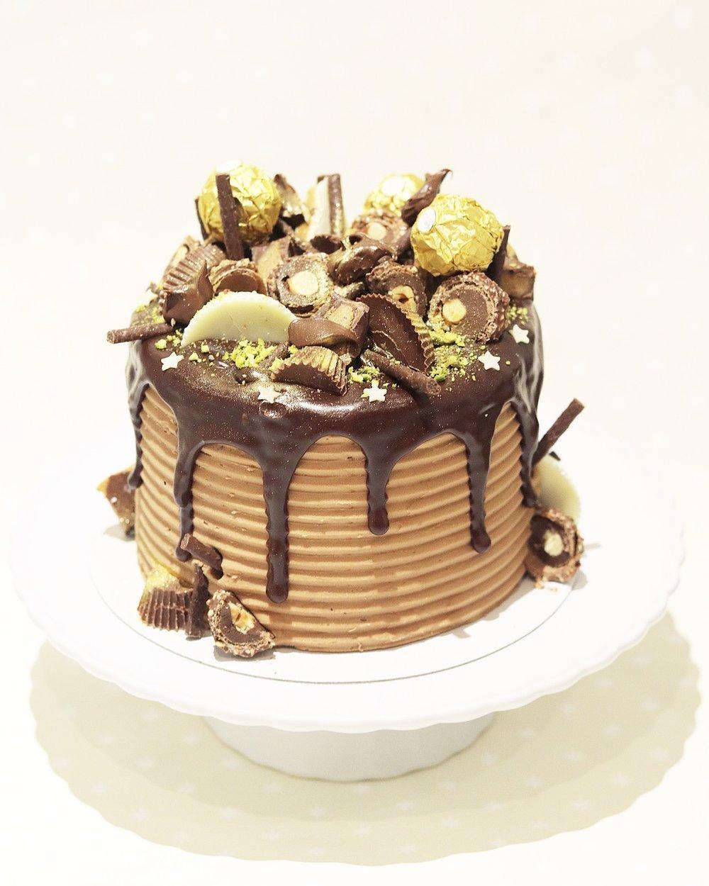 Fererro Roche & Reese Drip Cake