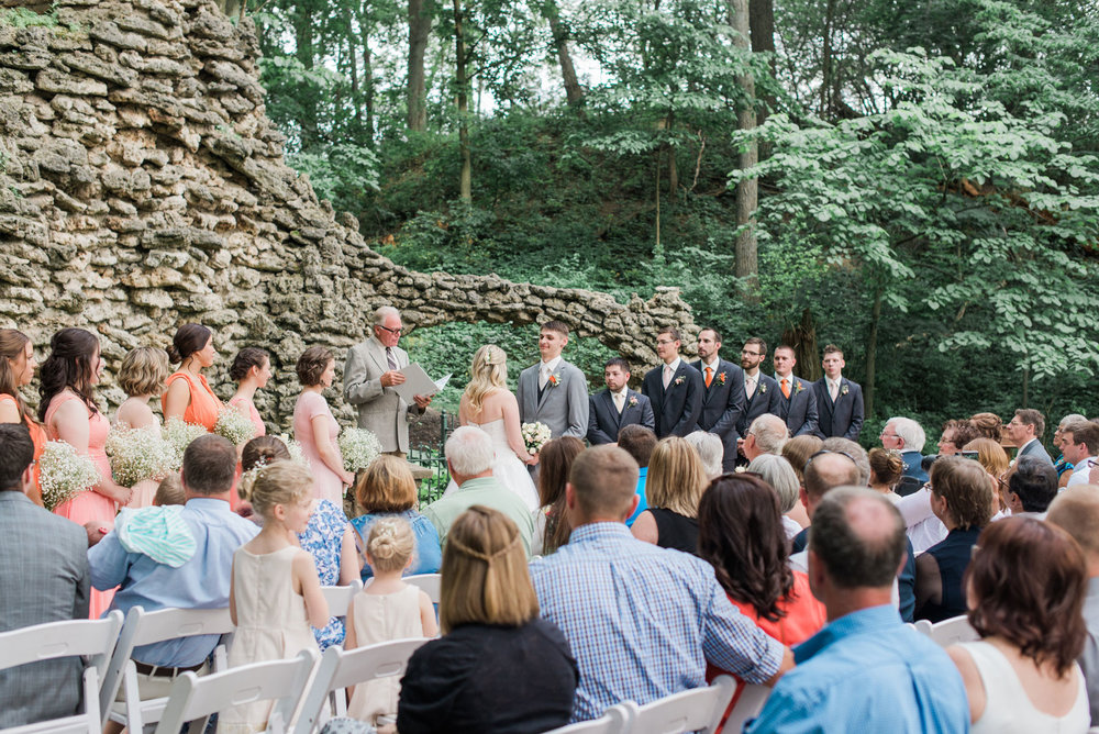Jessie + Quentin - There is nothing more romantic than being married in the grotto at Nazareth Hall. And this long-awaited wedding celebration was definitely a family affair.