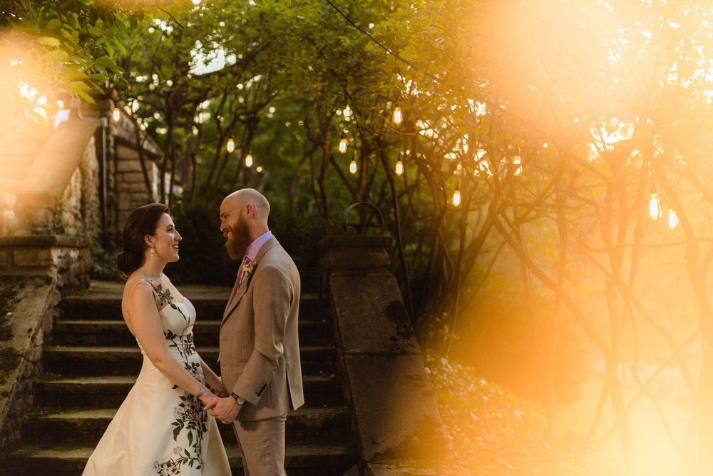 Maude + Zach - This couple's fun and colorful wedding is one to remember. From the personal touches to the embroidered wedding dress to the lush tropical flowers and the three wedding cakes made by the bride herself.