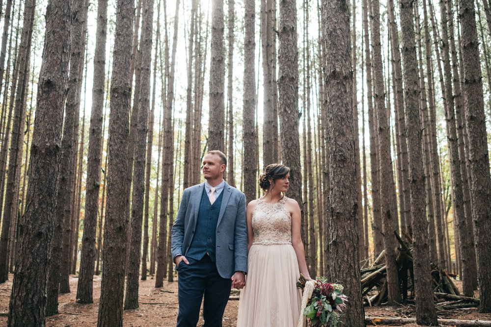 Kallie + Alex - Yes! This stationer knows how to detail a wedding from her dress, to the ceremony backdrop, not to mention the signage for her boho-inspired wedding.