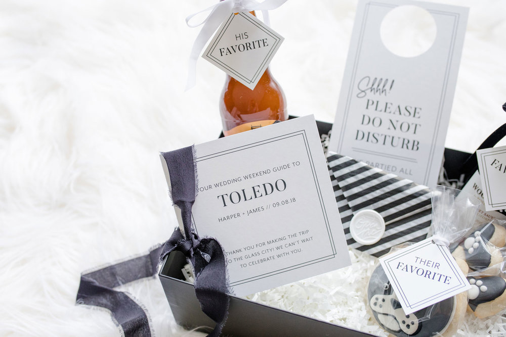 The Ultimate Greeting - The Welcome Box // Toledo Wedding Guide