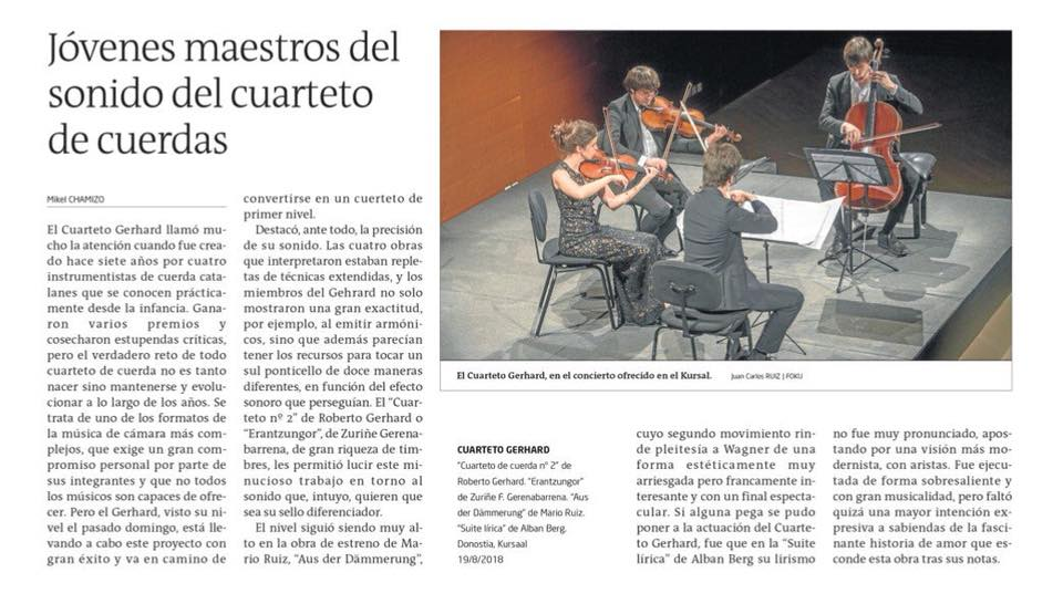 Gara Newspaper    20.08.18   Review concert 19.08 by Mikel Chamizo