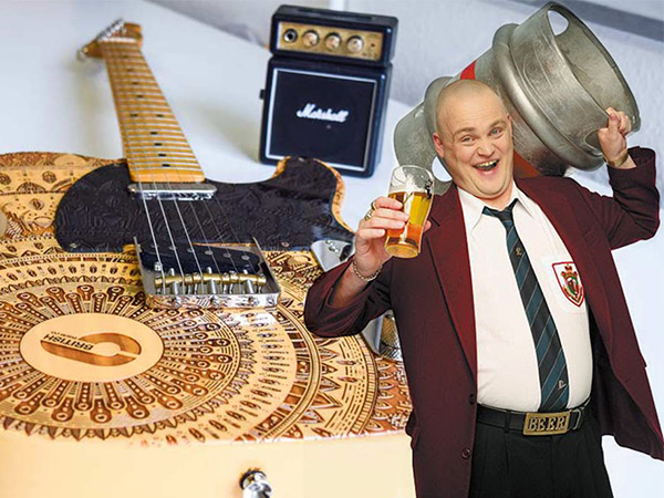 This axe is on fire, the execution is wonderfully achieved!  Al Murray -  The Pub Landlord