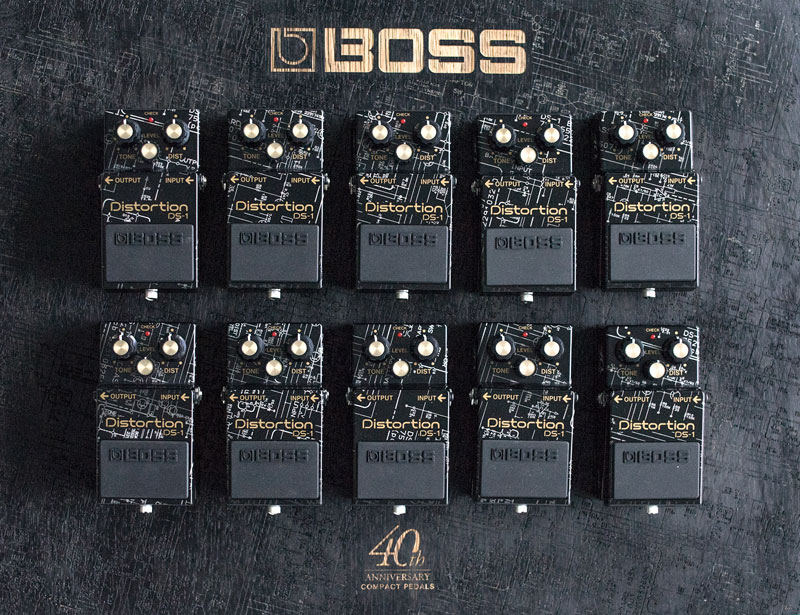 Burntaxe Boss 40th DS-1 Anniversary Event London House Of Vans Laser Etched Custom Guitar Pedals