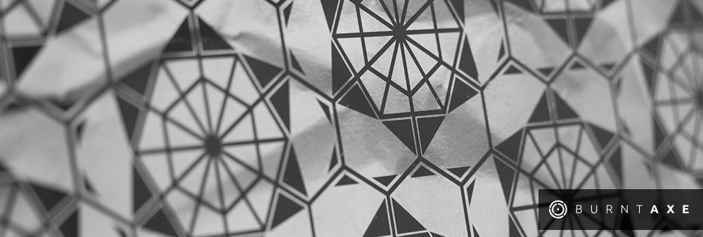 Hexplode by Ella Simpson for Burntaxe laser etch design Brighton UK