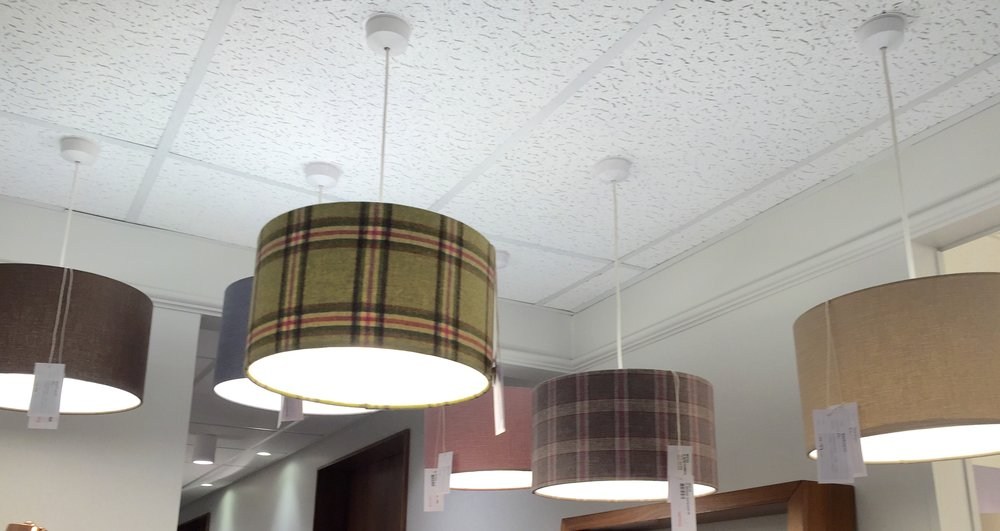 One of our Electrical Wholesale Customers Showroom - their Feature Lighting display has a variety of lamp shade options & generates great sales, they even hold stock now they know what sells for them!