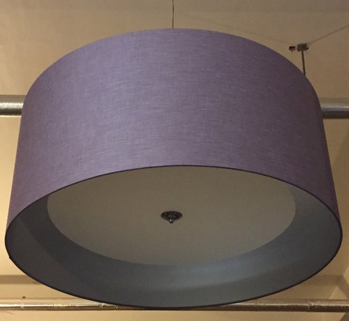 Lamp shade gallery feature lighting oversize purple drum shade with opal diffuser mozeypictures Images