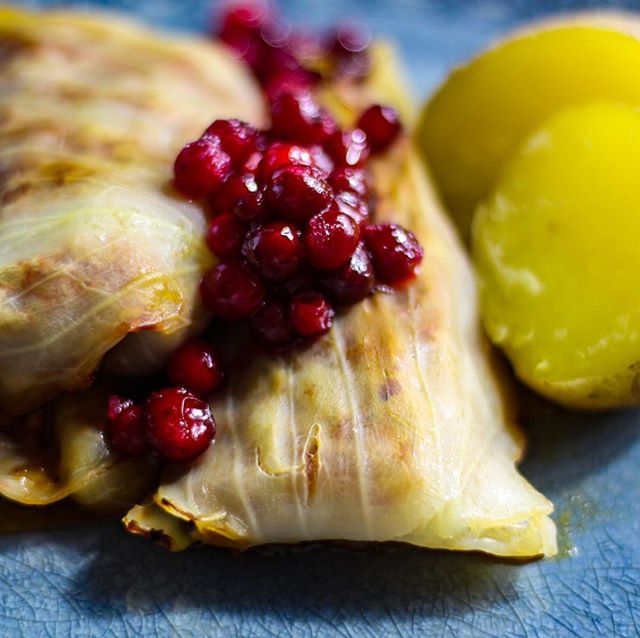 Today its the Cabbage roll Day/Kåldolmens Dag! 🥬 Interesting in veganizing Swedish traditional foods? Then try my vegan cabbage rolls filled with minced soya meat @anamma, served with boiled potatoes & raw sugared lingonberries. My partner said it tasted better than the original 😉😍 Recipe in Swedish & English linked in bio 💫 . . . . . #kåldolmar#veganskhusmanskost#husmanskost#svenskmat#kåldolmensdag#vegancabbagerolls#vegandolmas#swedishtraditionalfoods#swedisgveganfoods#EatingForTheInsta#instavegan#veganfoodshare#veganism#veganeats#bestofvegan#veganfoodlover#plantbased#anamma#oatly#instafood#buzzfeast#vegancooking#plantbasedfood#vegetariancooking#vegetarian#vegan#matblogg#vegomat#vegetariskt#proteinskiftet