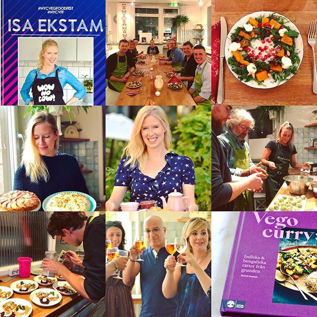 Happy New Year! 🥂 2018 has been an intense & fun food year for me and @green_isa_dream filled with cooking classes, lectures, cook book writing, restaurant consulting, participating in various vegetarian food festivals, recipe writing & launching of @veggietownsthlm Looking forward to 2019 with new challenges & to spread vegetarian food inspiration to all of you out there! 💫✨🍾🥂
