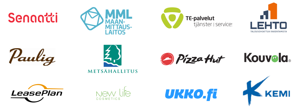 We work with: