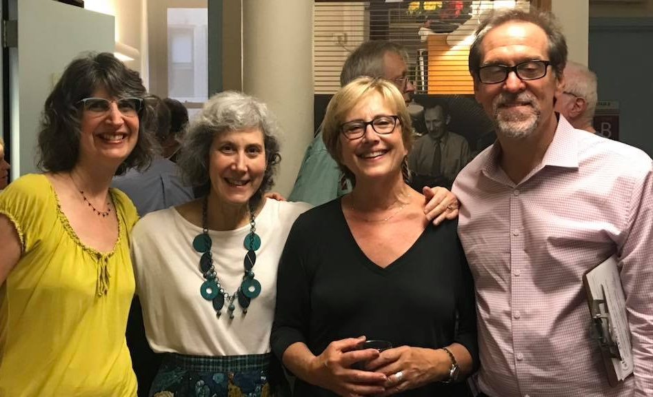 With Suzanne Nowikas Sorel, Jacqueline Birnbaum and Alan Turry, members of the original staff of the Center.