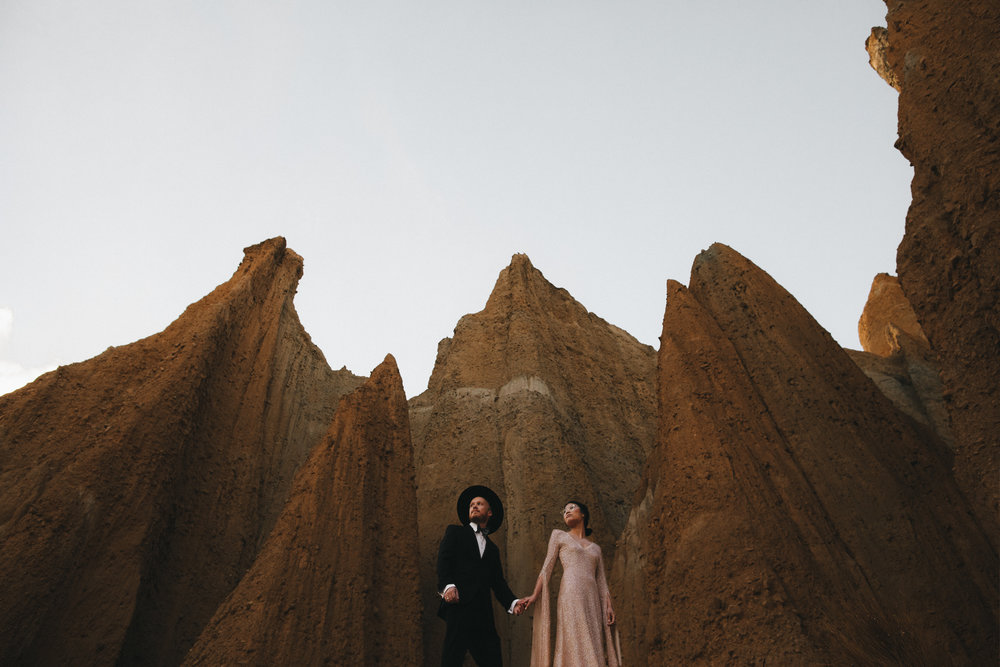 Clay Cliffs Wedding New Zealand